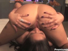 Large boobed lezzies Jenaveve Jolie and Cody Milo lick each other
