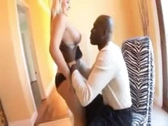 Chubby white lover hotty blows his black meat