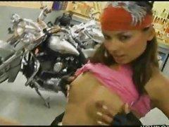 Latina Biker Babe