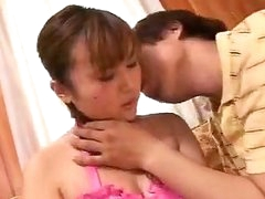 Busty Japanese Oriental Getting Pussy Moist by NakedXCamscom
