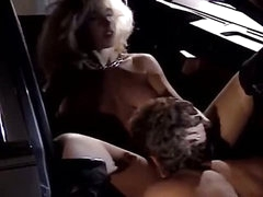 Vintage sex in the car with beautiful curvy hotty