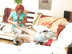 Hannah&Clara nylon footfuck video scene