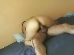 Attractive woman rides husband's firm rod and cries out loudly because she feels lots incredible orgasms.