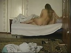 Excited blonde chick joins her boyfriend in the bed to have a wild fuck session with him. That babe greedily sucks his piston then acquires fiercely slammed in every position.
