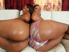 Natasha and Imani are stacked! They got booty for days. Natasha has some large love melons that can squeeze your dick till it goes trickle trickle drip. Imani the anal dominatrix will pound your dick with her booty hole till your shit is black and blue! Time to some out your dick cause it's about to go down......