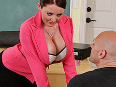 Johnny's fresh substitute teacher is one hot large-titted cutie... That Babe has Johnny daydreaming about a sexy fuck session in the class!!! Turns out poor Johnny wasn't dreaming entirely after all...
