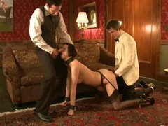 Sexy hawt babe's hawt helpers fucked and punished in bondage.