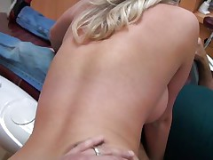 Cute young angel with long blond hair acquires it from behind from a lewd dentist. That babe really enjoys his really hard dick as u can watch it from her face. That babe spread her legs as that babe acquires ready for some pussylicking. Will he fuck her for wonderful or will that babe be satisfied with just some cunnilingus?
