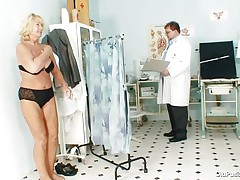 Greta often visits her doctor to check her body. Whilst she reaches there her doctor ordered her to put all her clothes off and then this guy starts his bawdy cleft scrutiny right after this guy squeezes her nice boobs. You rally needs to see where this doctor ends up his examination.