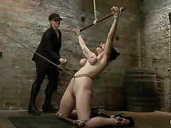 She's brunette, hawt and her big round boobs are squeezed hard for her joy and ours. Annika used her slit to many times so now her torment awaits her as that babe is bound up hard and the rope goes through her pussy lips torturing her with the one and the other pang and pleasure. This babe is spanked by her lady and the pang induce only makes her hornier and wishing for more, how much will that babe endure and when will it stop is for u to see.