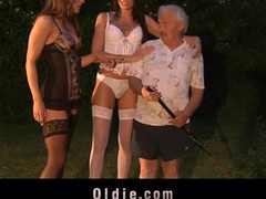 Those 2 youthful gals accuse the poor old chap of stealing just to reach him. Savannah Secret and Erika Bellucci crave long time to try an oldyoung fucking assorted with sucking and milking now happen