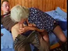Busty German Granny copulates young Guy