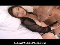 Breasty japanese honey natsumi mitsu trades head and gets nailed